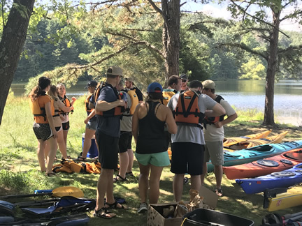 Farm Credit Scholars get ready for sea kayaking expedition