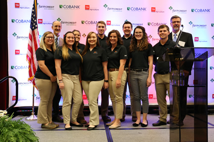 Farm Credit Scholars at the 2018 TN Ag Leadership Forum