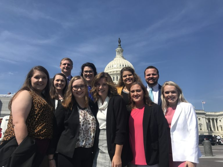 Farm Credit Scholars in Washington DC at the Capitol Building