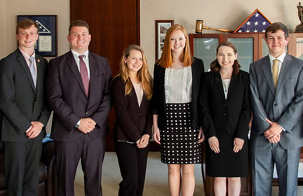 The 2019 class of Farm Credit Scholars in the Howard H. Baker Jr. Center for Public Policy.