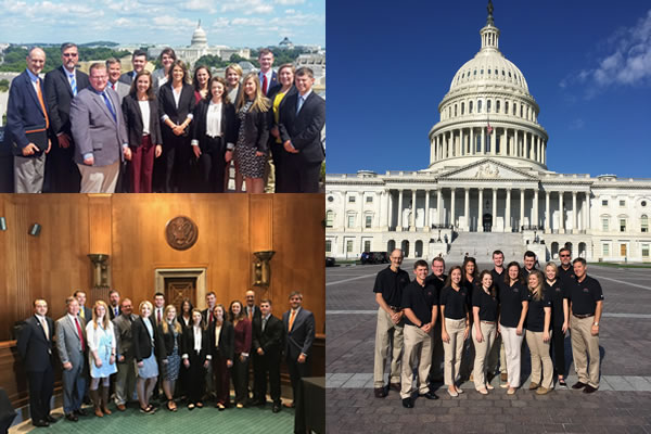 Collage of Farm Credit Scholars in Washington DC for Primer on Ag Policy