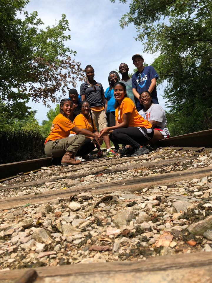 Herbert College Connections students out on a hike.