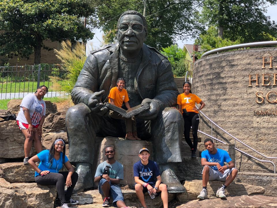 Herbert College Connection students visiting local historic site in Knoxville.