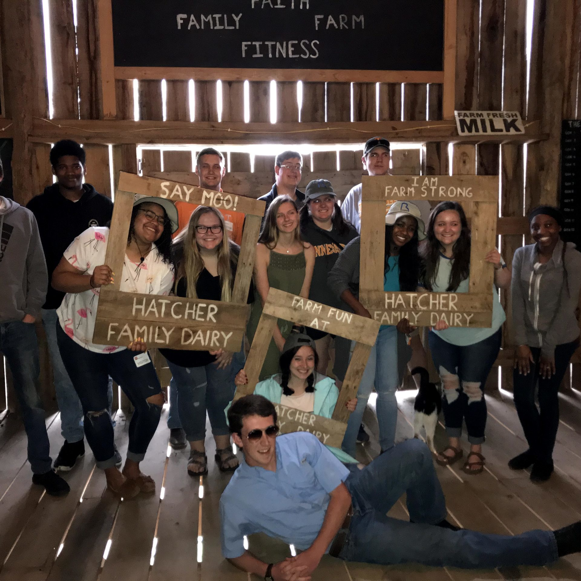 Students in Herbert Life LLC visit Hatcher Family Dairy
