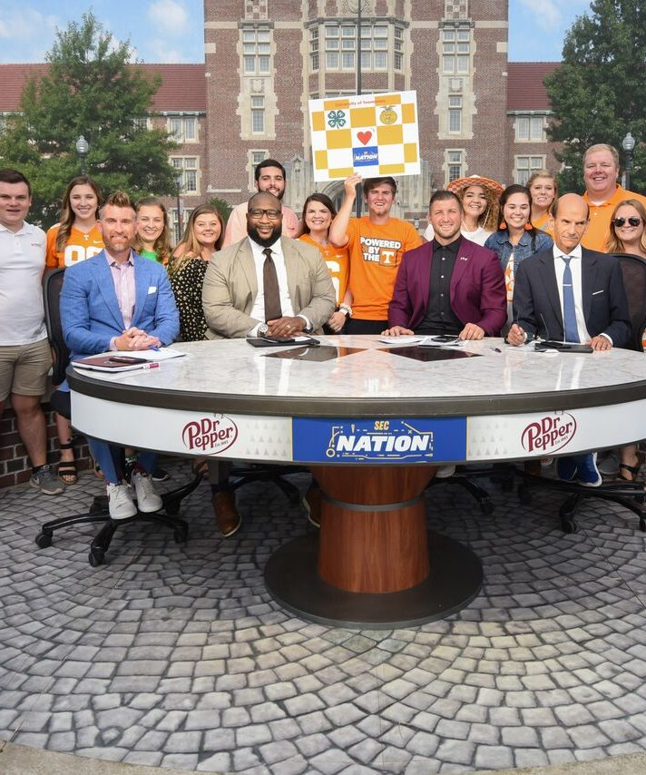 TV Crew from SEC Nation on University of Tennessee's campus