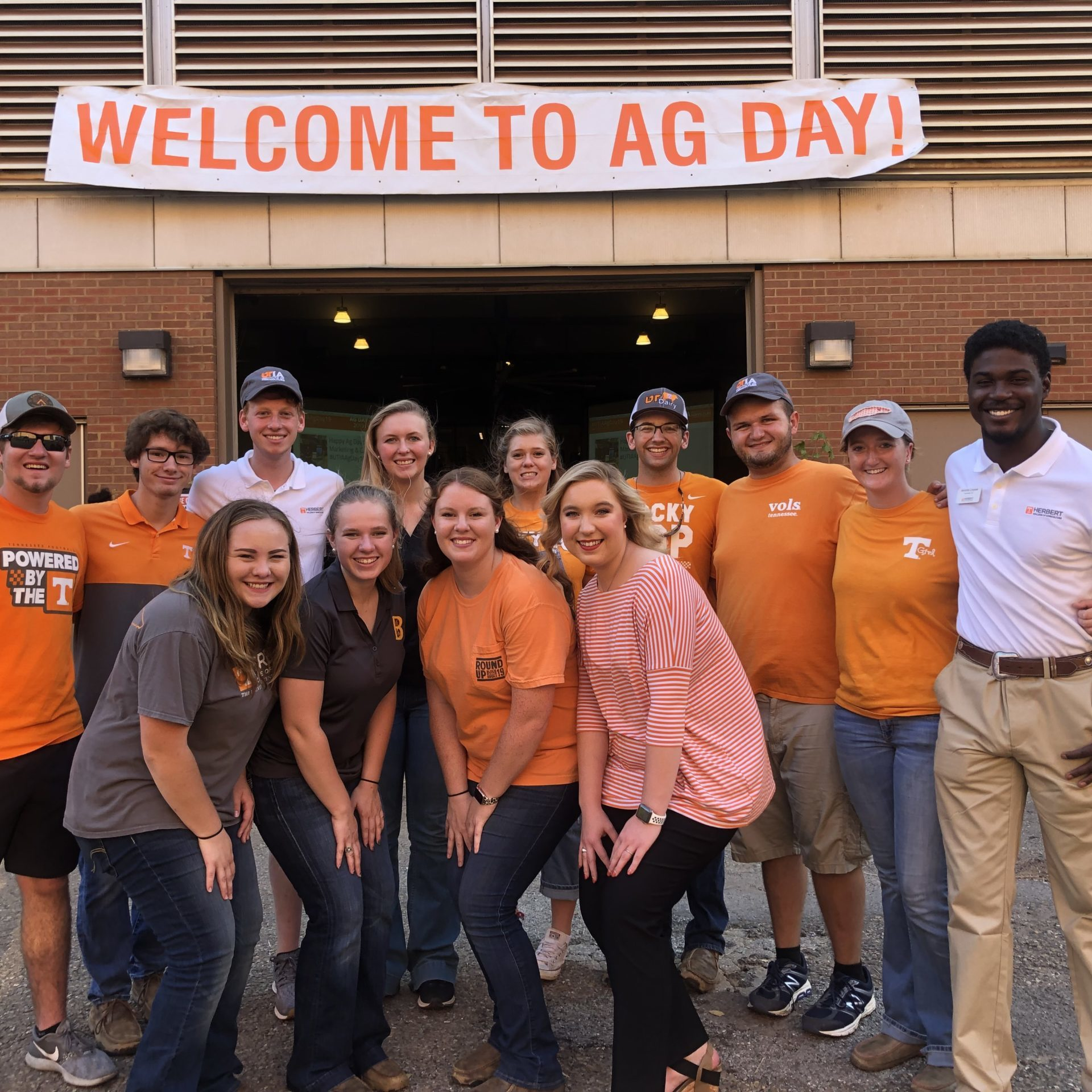 Students gather outside of Ag Day event