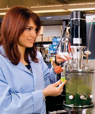 Female working in a lab