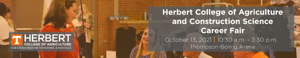 Herbert College of Agriculture Career Fair on October 13th